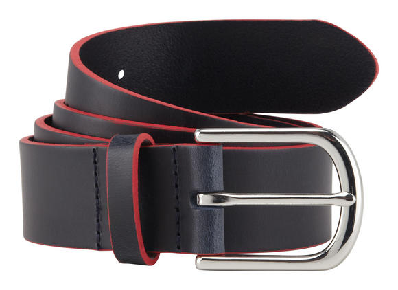 New! 2016 Aston Martin Racing Team Mens Leather Belt Blue/Red - 2 Sizes