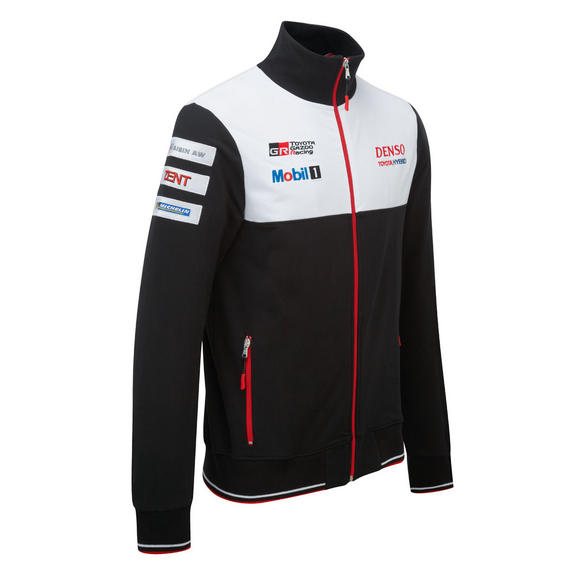 Toyota Motorsport Mens Full Zip Sweatshirt 2016 Gazoo Racing Le Mans Team