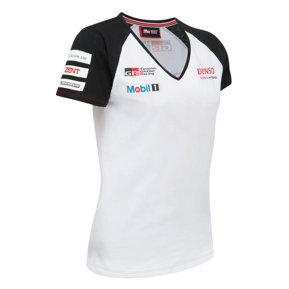 Toyota Motorsport Ladies Womens T-Shirt 2016 Gazoo Racing Le Mans Team TS050