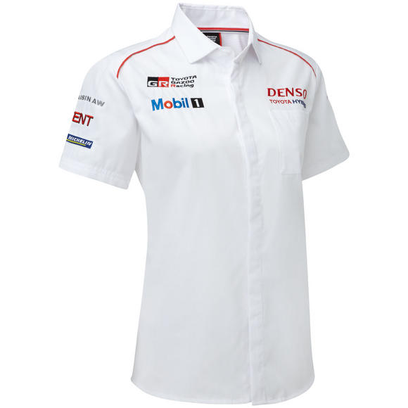 Toyota Motorsport Mens Team Shirt with Collar TS050 Hybrid Gazoo Racing Le Mans