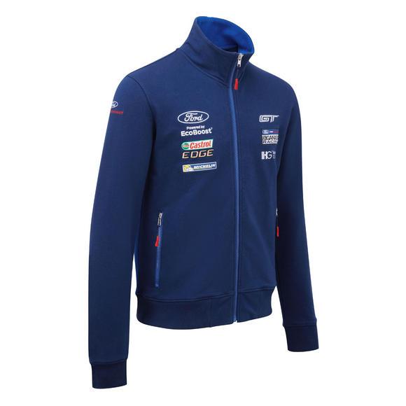Ford Motorsport Mens Sweatshirt Zull Zip Jumper WEC Ford GT Ganassi Racing Team