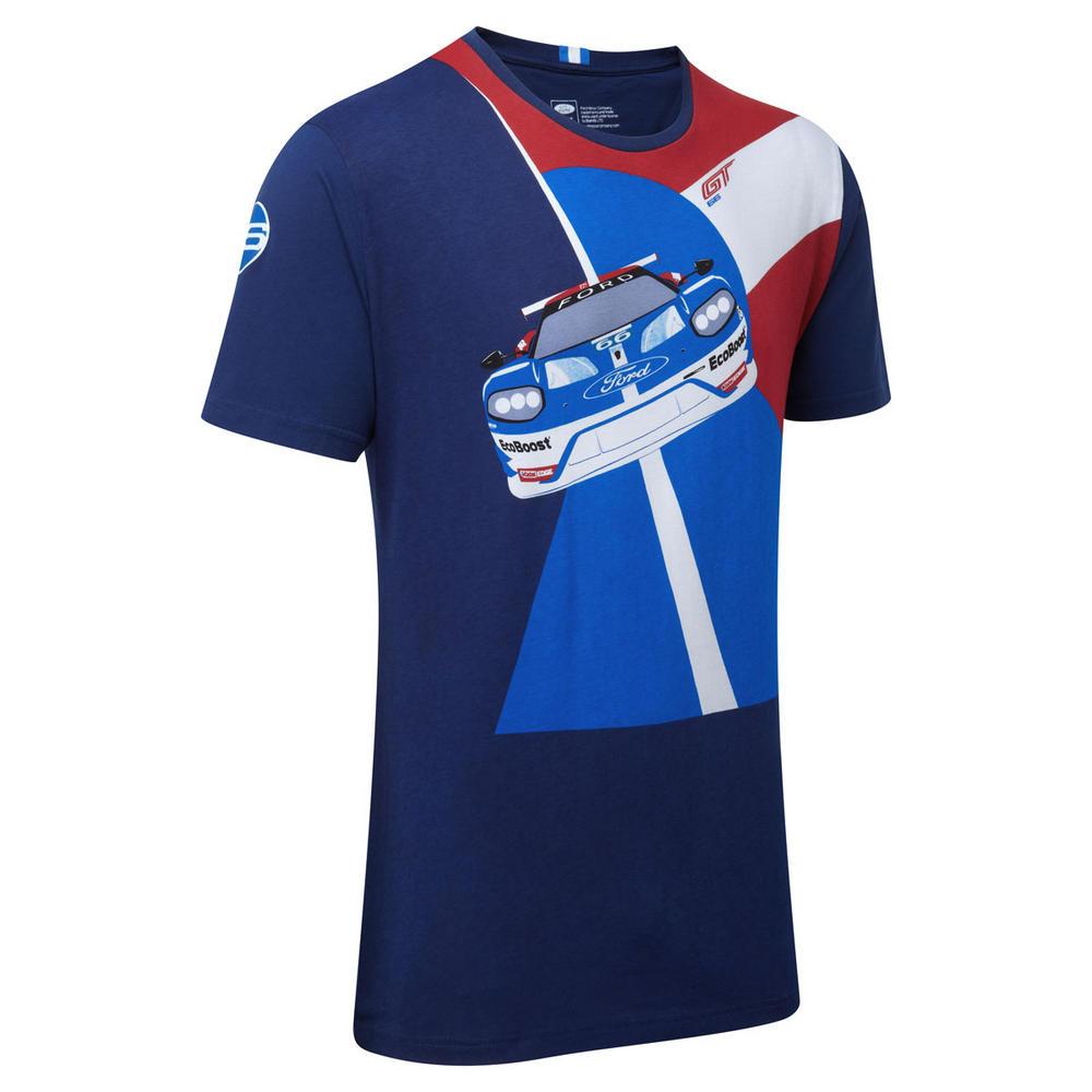 Ford GT Mens Race Car Graphic T-Shirt - World Endurance Championship Race Team
