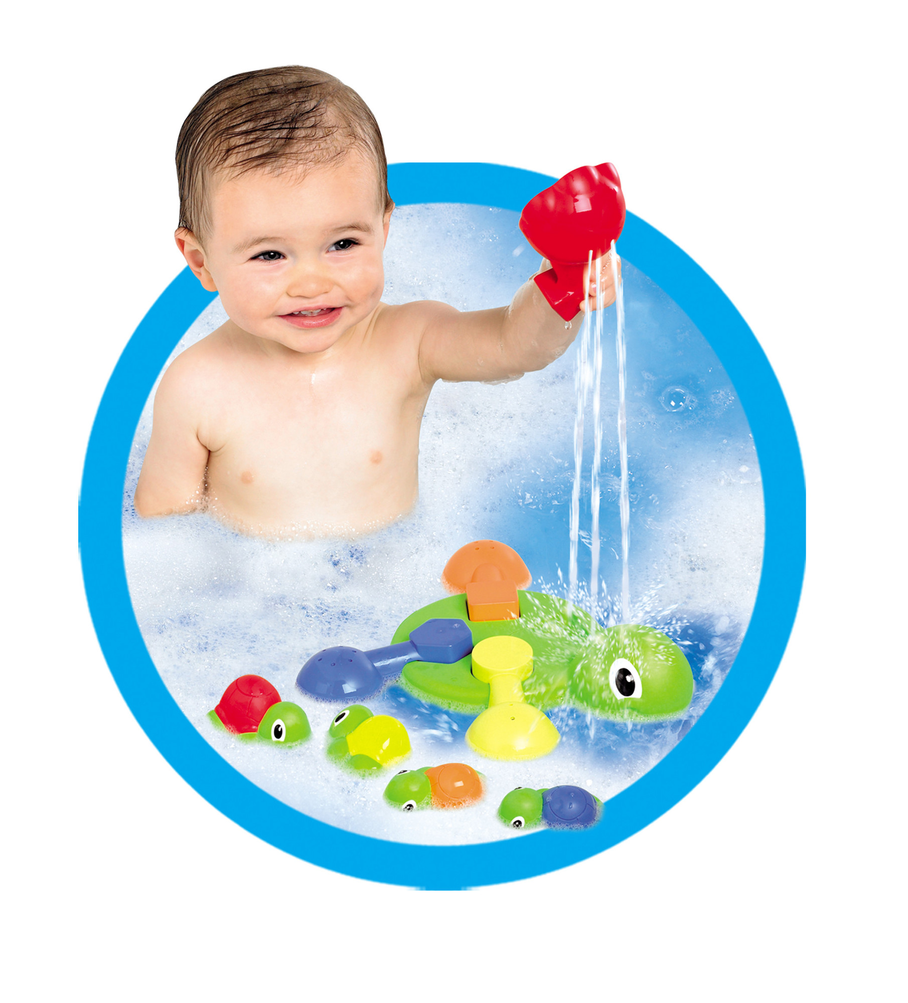 E72097 TOMY Turtle Tots Bathtime Fun Toy with Pour Cup & Squirters ...