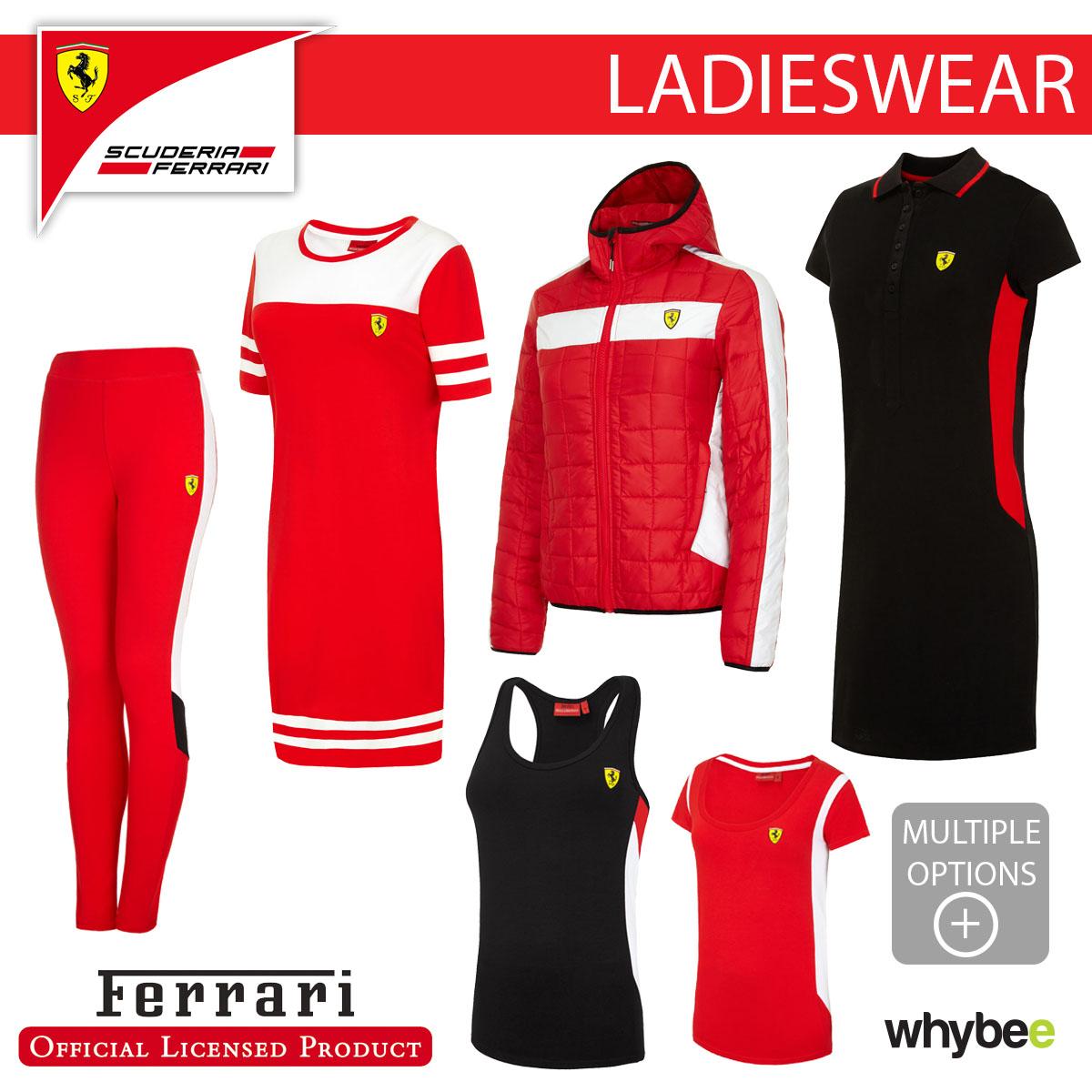 Scuderia Ferrari Formula 1 Womens Black Classic Polo F1