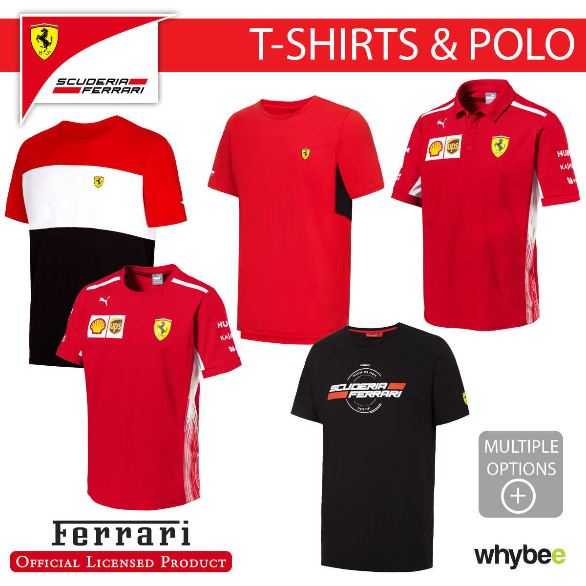 classic shoes top design latest style of 2019 Details about Ferrari F1 Formula One Team Mens T-Shirt & Polo Shirt  Official Full Range