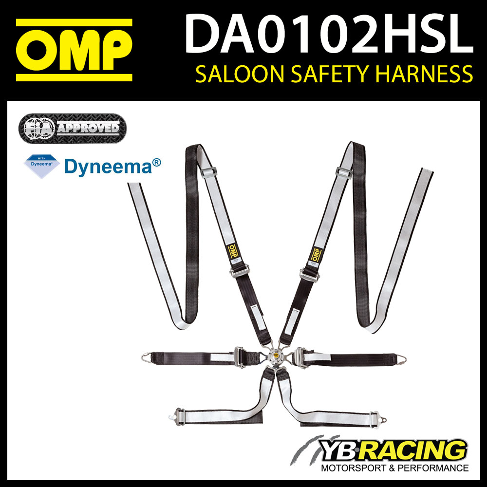 DA0102HSL OMP WRC RALLY HARNESS DYNEEMA SALOON 6-POINT FHR ONLY FIA 8853-2016