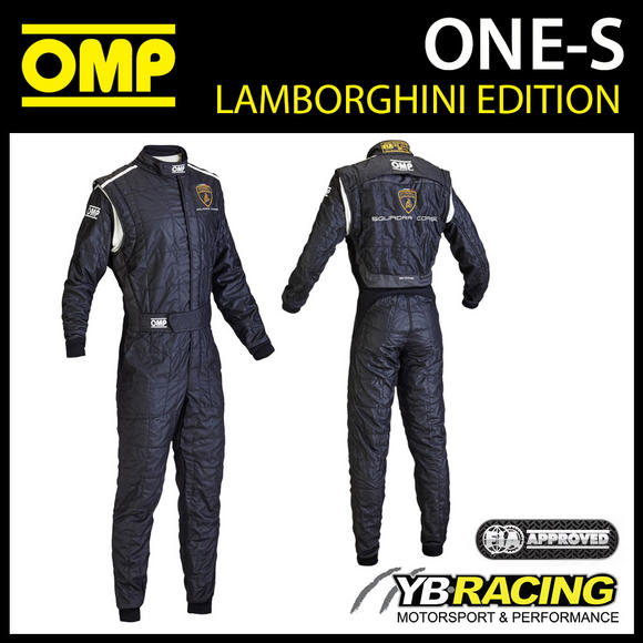 IA837 OMP ONE-S TOP LEVEL RACE SUIT LAMBORGHINI SPECIAL EDITION IN BLACK