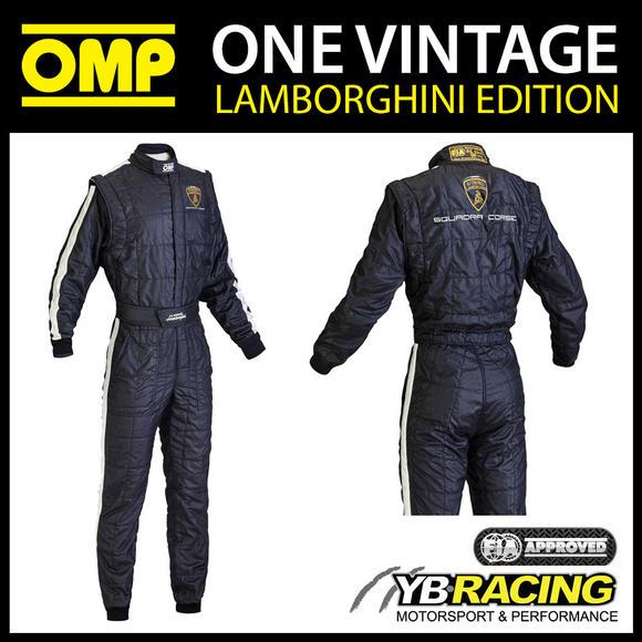 IA842 OMP ONE VINTAGE CLASSIC RACE SUIT AUTOMOBILI LAMBORGHINI EDITION
