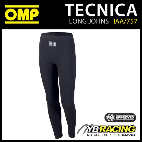 IAA/757 OMP TECNICA FIREPROOF PANTS LONG JOHNS RACE RALLY MOTORSPORT FIA