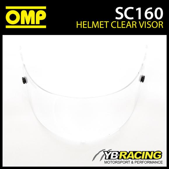 SC160 OMP Replacement Clear Visor fits OMP SC785E GP8 EVO Helmet & KJ8 SC790E