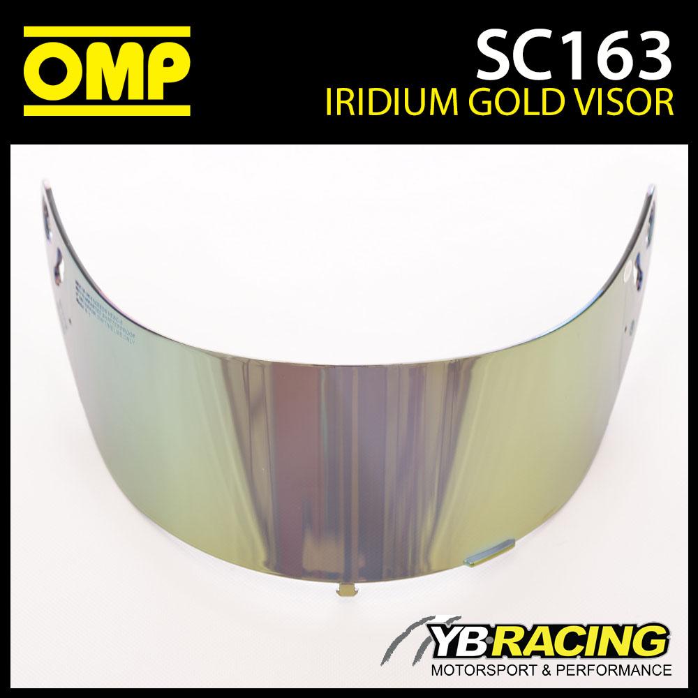 SC163 OMP Iridium Gold Visor fits OMP SC785E GP8 EVO Helmet & KJ8 SC790E