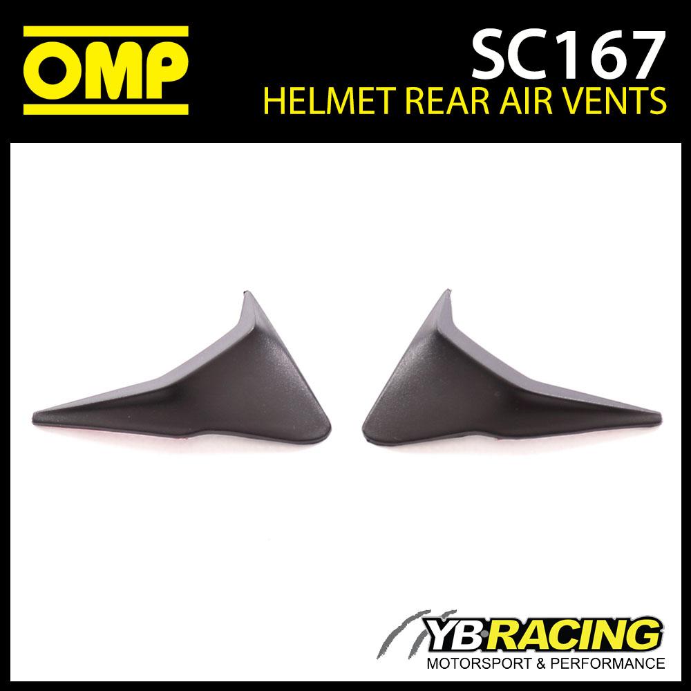 SC167 OMP Rear Air Vents (x2) fits OMP SC785E GP8 EVO Helmet & KJ8 SC790E