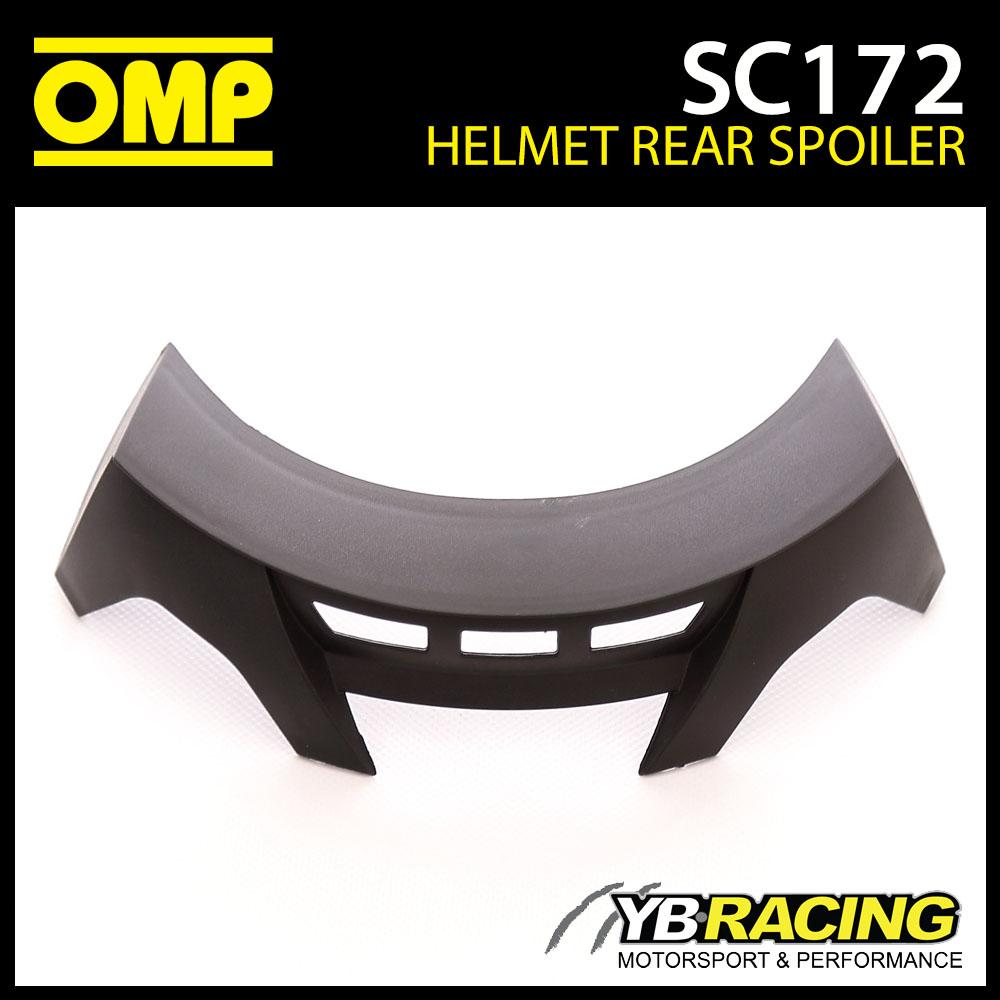 SC172 OMP Rear Black Spoiler fits OMP SC785E GP8 EVO Helmet & KJ8 SC790E
