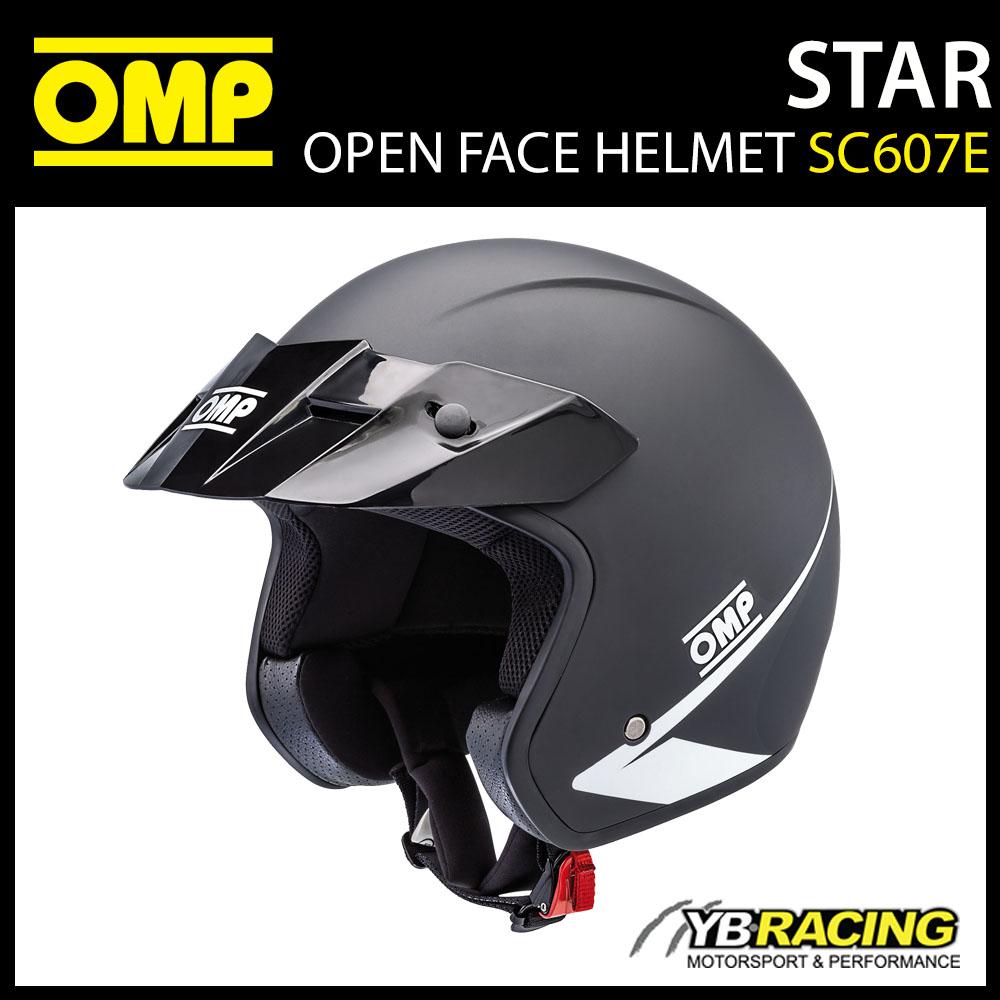 SC607E OMP STAR HELMET OPEN FACE KARTING / TRACK DAY / RALLY / SIZES S-XXL