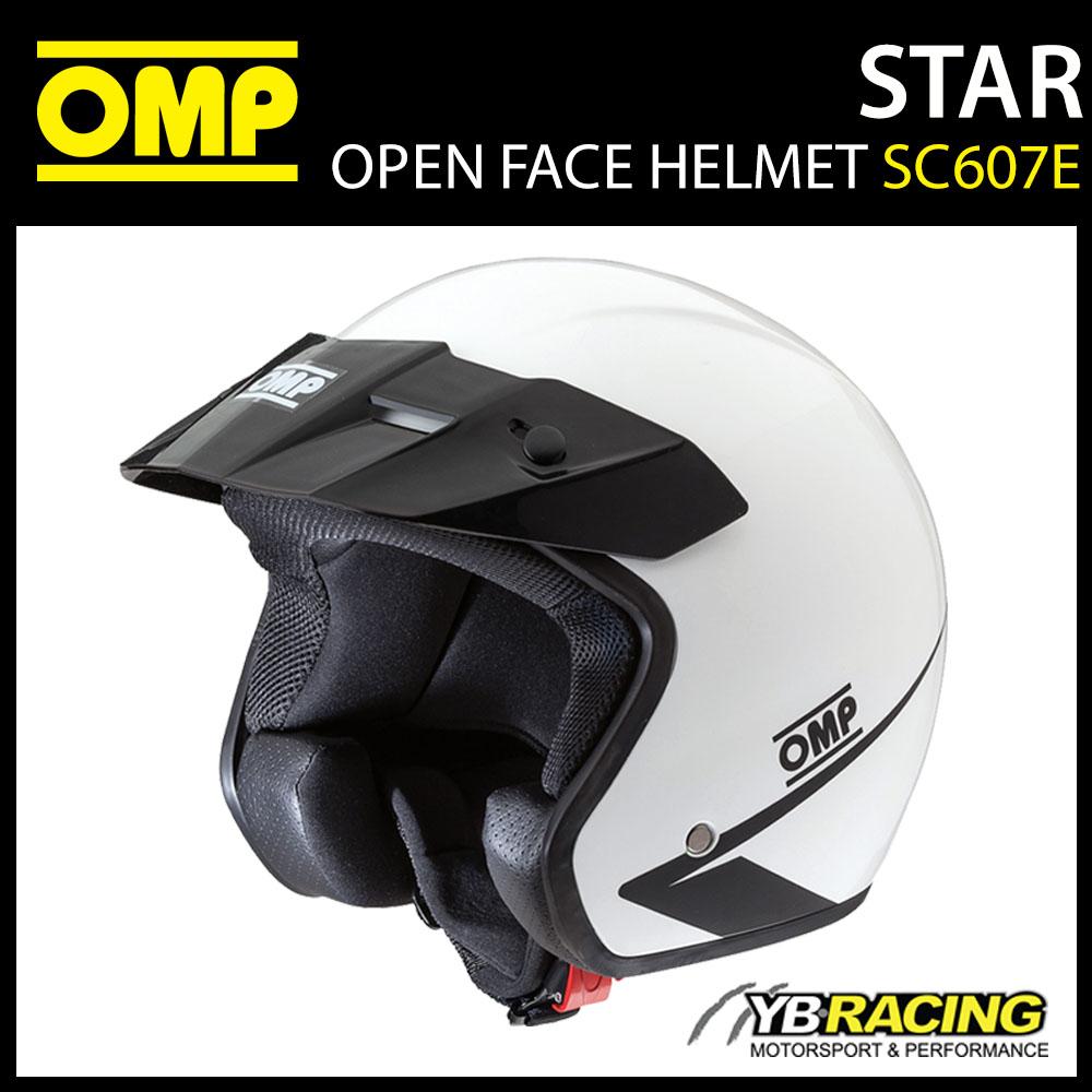NEW! SC607E OMP STAR HELMET OPEN FACE KARTING / TRACK DAY / RALLY / SIZES S-XXL