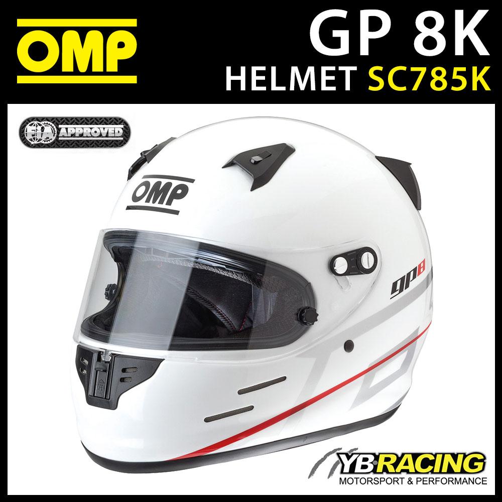 New! SC785K OMP Karting GP8K Full Face Kart Helmet with Rear Spoiler GP 8K SNELL