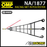 NEW! NA/1877 OMP RACING PROFESSIONAL TOP LEVEL SAFETY NET WITH QUICK RELEASE