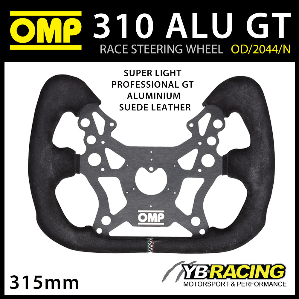 OD/2044/N OMP RACING 310 ALU GT STEERING WHEEL ALUMINIUM/SUEDE for RACE CAR