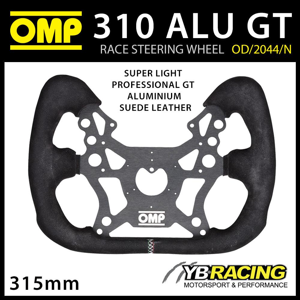 NEW! OD/2044/N OMP RACING 310 ALU GT STEERING WHEEL ALUMINIUM/SUEDE for RACE CAR
