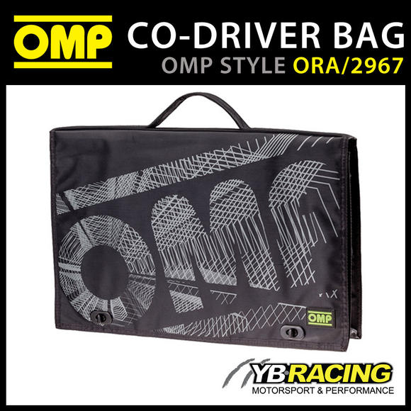 ORA/2967 OMP Rally Co-Driver Navigator Sports Bag 44x6x25cm New Updated Version in Black!