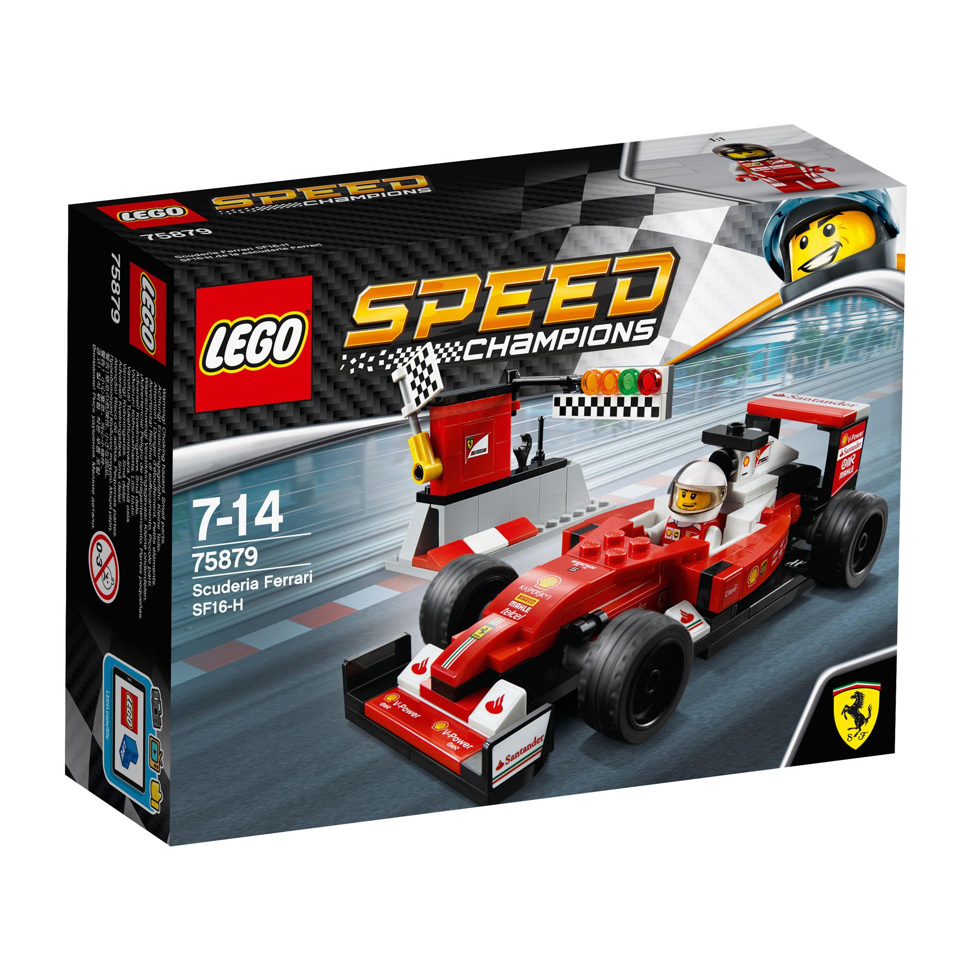 75879 Lego Speed Champions Scuderia Ferrari Sf16 H Formula 1 Car Age