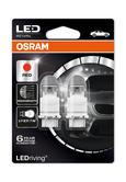 Osram Premium LED Red Brake Light Bulbs P27/7W 180 (3157) S8W W2.5x16q 3557R-02B