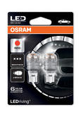Osram Premium LED 921 Red Brake Light Bulbs W16W (T16) Wedge 12V 2W 9213R-02B
