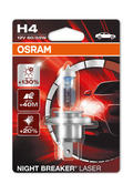 New! Osram H4 Night Breaker LASER Bulb (x1) +130% More Light (472) 64193NBL-01B