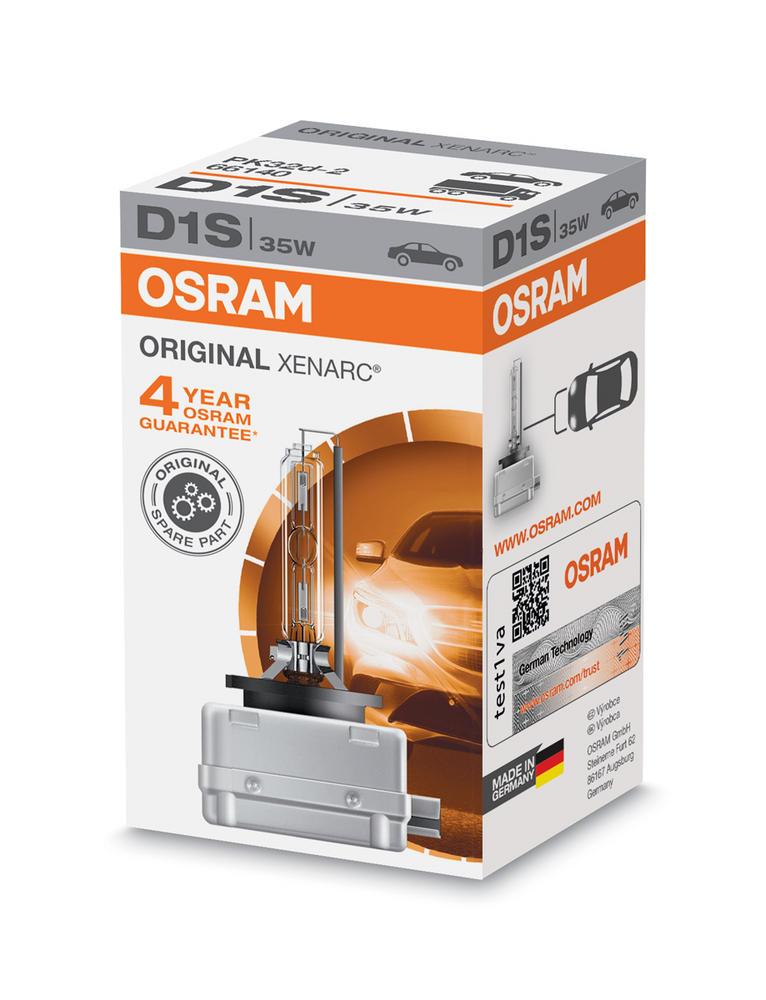 Osram D1S Original XENARC HID Xenon Gas Upgrade Bulb (x1) 35W 66140 PK32d-2