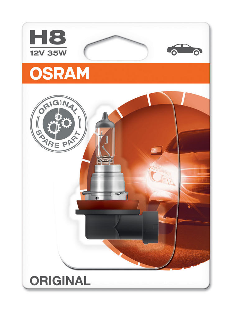 New! Osram H8 Bulb 12V 35W ORIGINAL Standard Replacement Foglight (x1) 64212-01B