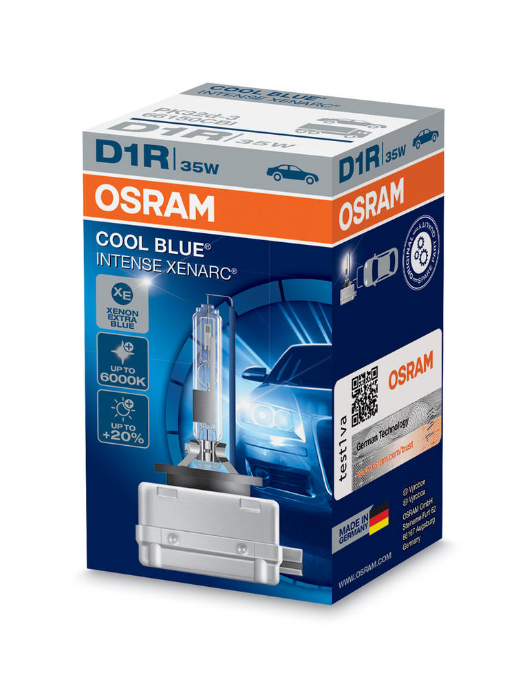 Osram D1R Cool Blue Intense XENARC 5500K HID Xenon Gas Upgrade Bulb 35W 66150CBI