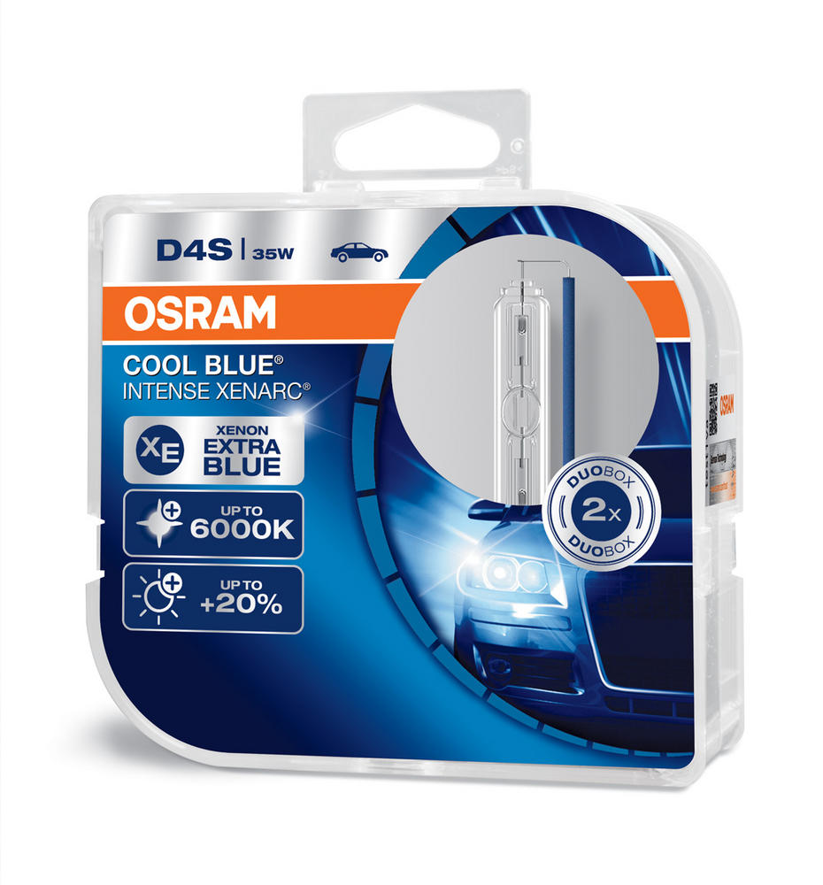 Osram D4S Cool Blue Intense XENARC Bulbs 6000K HID Xenon Gas 35W 66440CBI-HCB