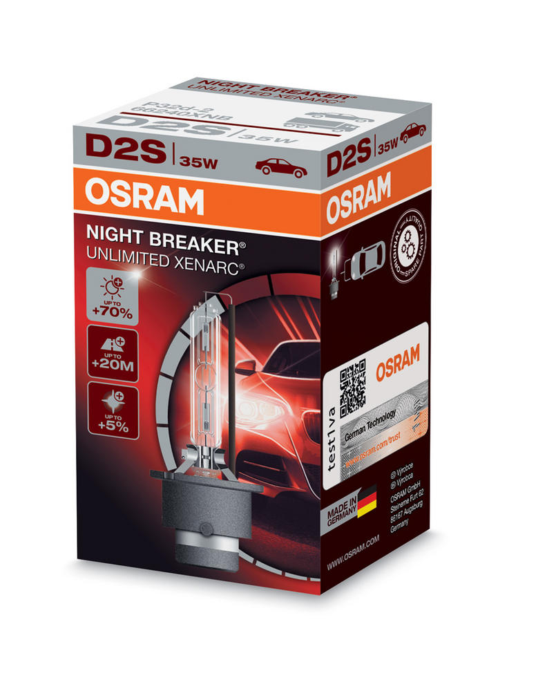 Osram D2S Night Breaker Unlimited XENARC Bulb x1 HID Xenon Gas 35W 66240XNB