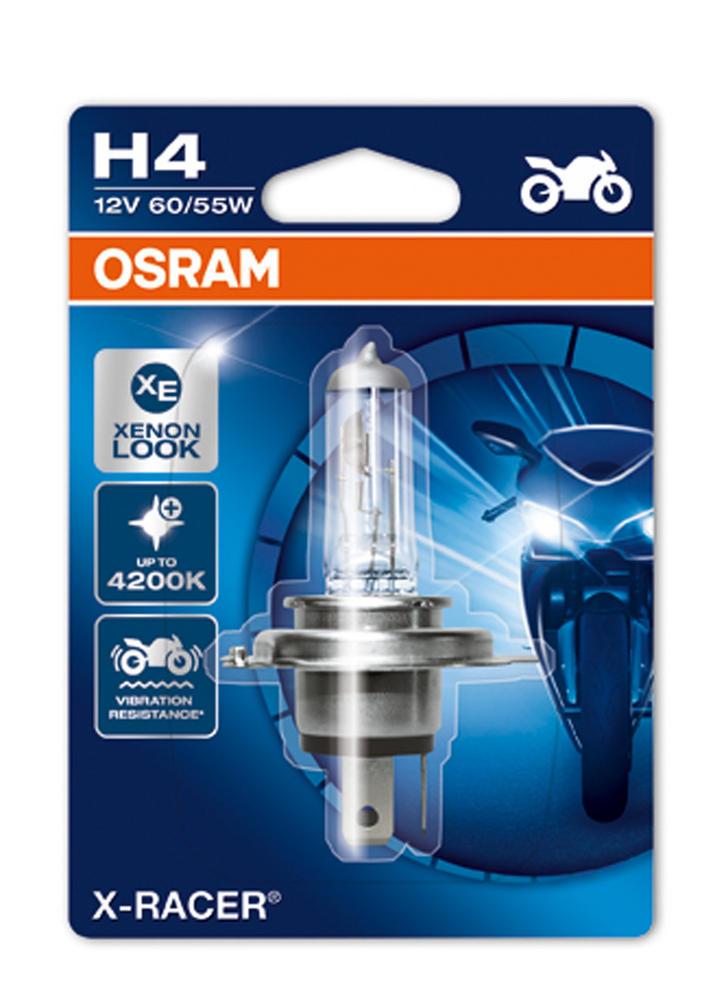 Osram X-Racer 4200K H4 Motorbike Headlight Bulb 12v 60/55w P43t 64193XR-01B