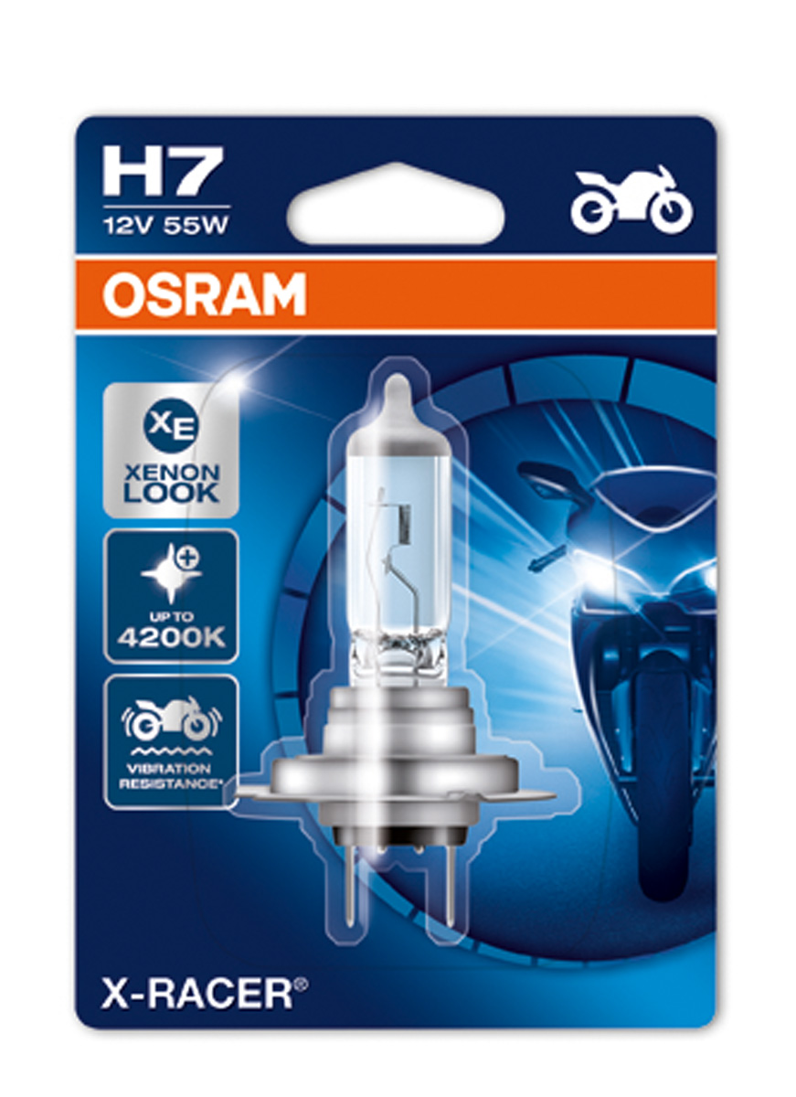 osram x racer h7 performance motorbike headlight bulb. Black Bedroom Furniture Sets. Home Design Ideas