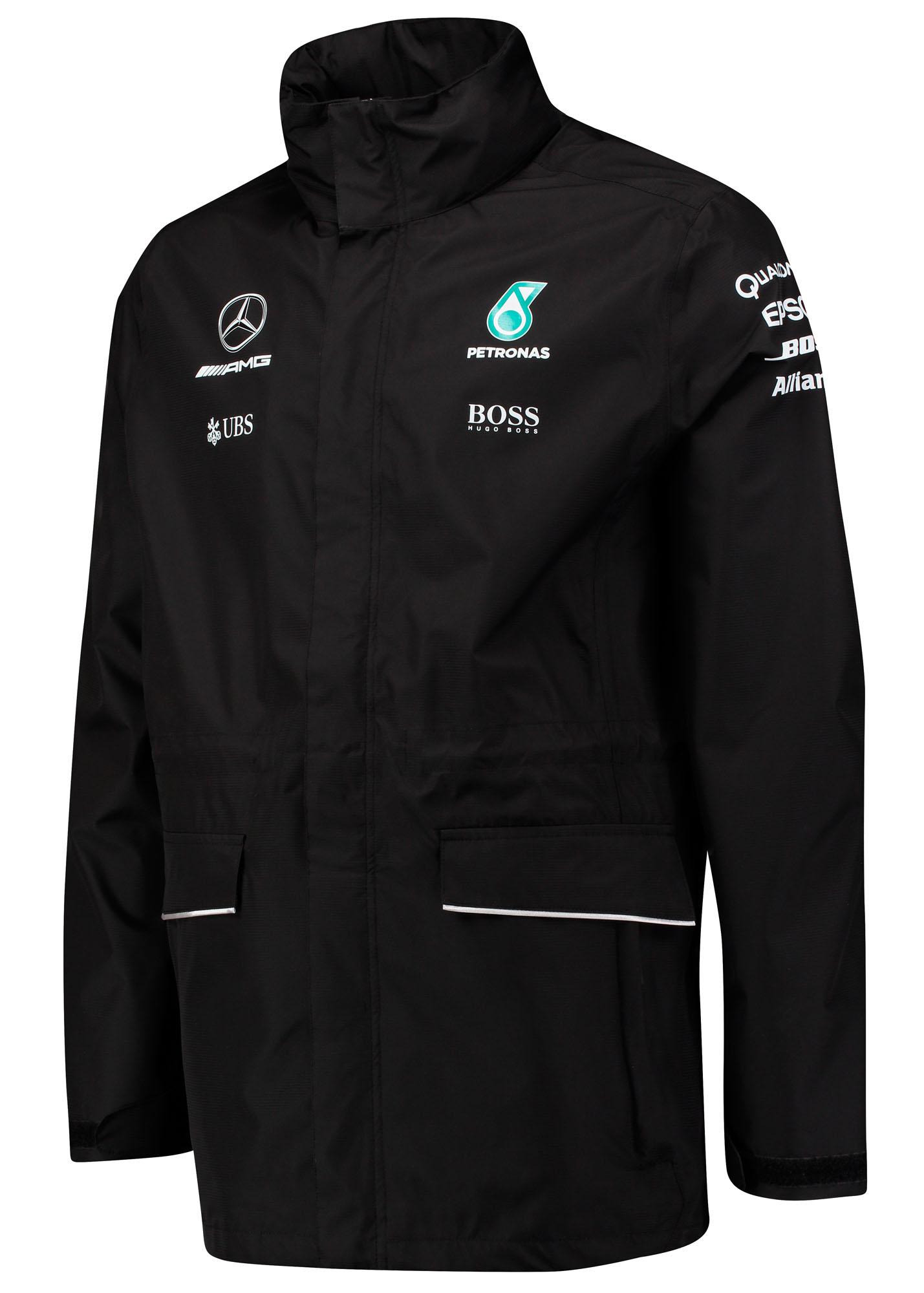 2017 Mercedes Amg F1 Lewis Hamilton Formula 1 Team Rain Jacket Coat
