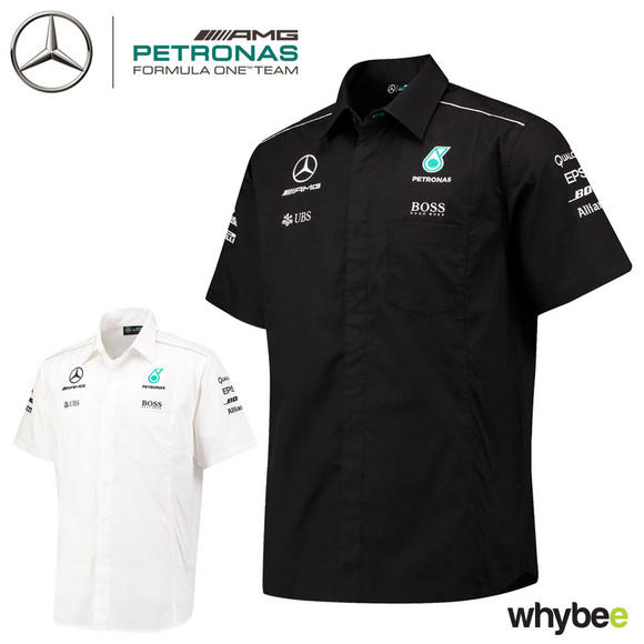2017 Mercedes-AMG F1 Lewis Hamilton Formula 1 Team Short Sleeve Shirt Hugo Boss