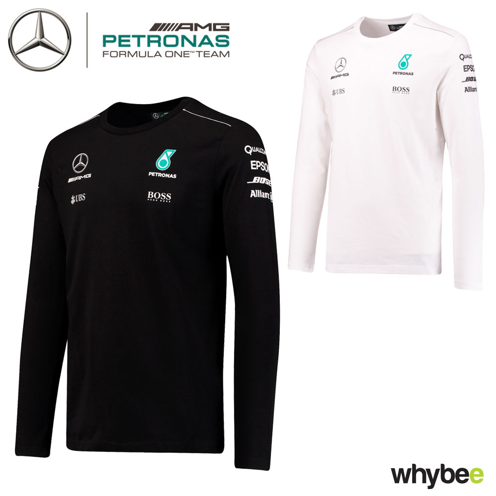 2017 mercedes amg f1 lewis hamilton long sleeve mens t. Black Bedroom Furniture Sets. Home Design Ideas