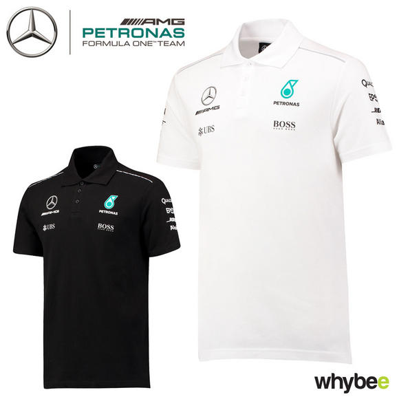 2017 Mercedes-AMG F1 Lewis Hamilton Mens Polo Shirt Hugo Boss Formula One Team