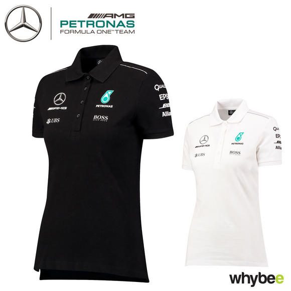 2017 Mercedes-AMG F1 Lewis Hamilton Ladies Team Polo Shirt for Womens & Girls