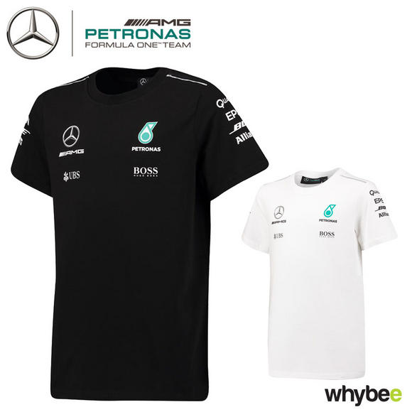 2017 Mercedes-AMG F1 Lewis Hamilton Children's Team T-Shirt for Kids Junior Boys