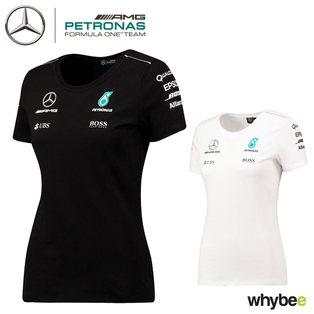 2017 mercedes amg f1 lewis hamilton ladies team t shirt hugo boss womens girls ebay. Black Bedroom Furniture Sets. Home Design Ideas