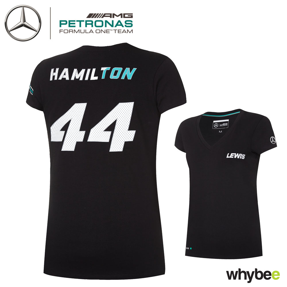 1a03ce699ae0d ... Lewis Hamilton 44 Ladies 2017 T-Shirt Womens Girls Mercedes-AMG ...
