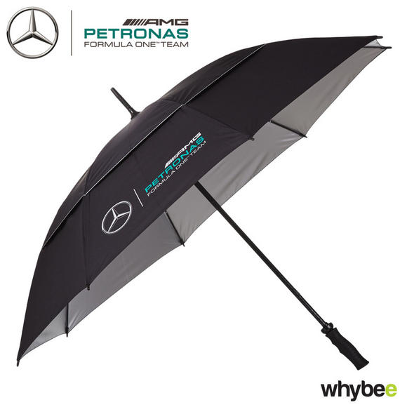 2017 Mercedes-AMG F1 Lewis Hamilton Formula 1 Team Golf Size Umbrella in BLACK