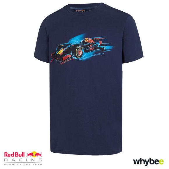 New! 2017 Red Bull Racing Formula One Team Mens F1 Car Design T-Shirt Navy Blue