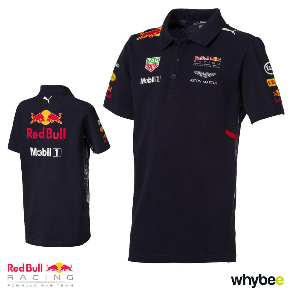 new 2017 red bull racing formula one team childrens polo shirt official puma f1 red bull. Black Bedroom Furniture Sets. Home Design Ideas