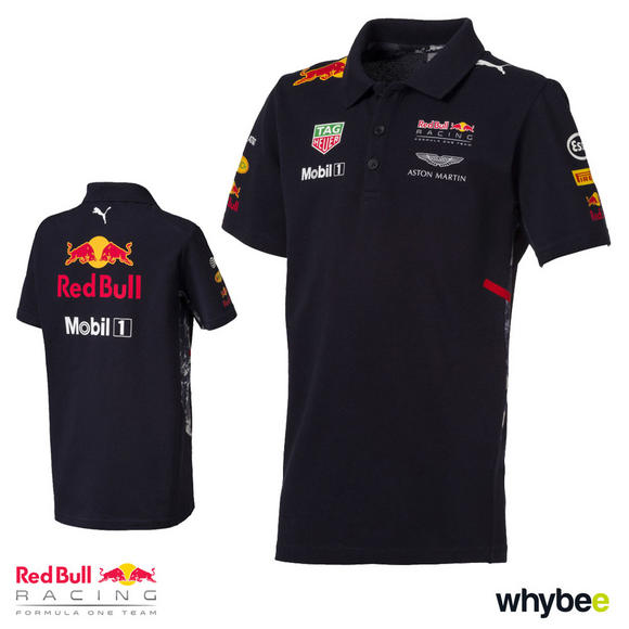 New! 2017 Red Bull Racing Formula One Team Childrens Polo Shirt Official Puma F1