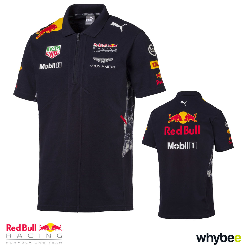 new 2017 red bull racing formula one team mens polo shirt official puma f1 red bull racing. Black Bedroom Furniture Sets. Home Design Ideas