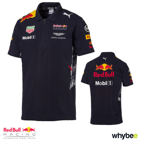 New! 2017 Red Bull Racing Formula One Team Mens Polo Shirt Official Puma F1