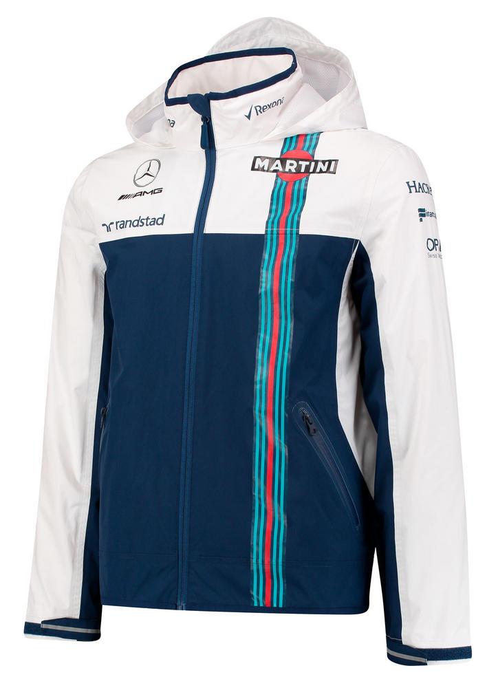 New! 2017 Williams Martini Racing F1 Formula One Team Mens Rain Jacket Coat